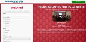 aplikasi registrasi online