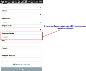 Aplikasi pencarian database