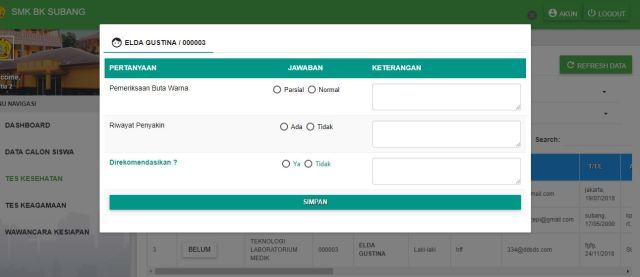 Aplikasi PPDB Online untuk SMK